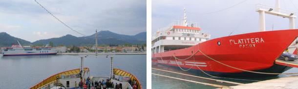 Остров Тасос погледнат от ферибота