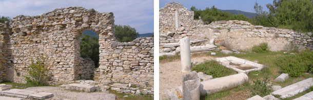Останки от древна базилика край Алики